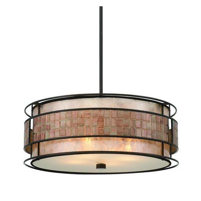 QZ/LAGUNA/P 4 Light Renaissance Copper Ceiling Pendant