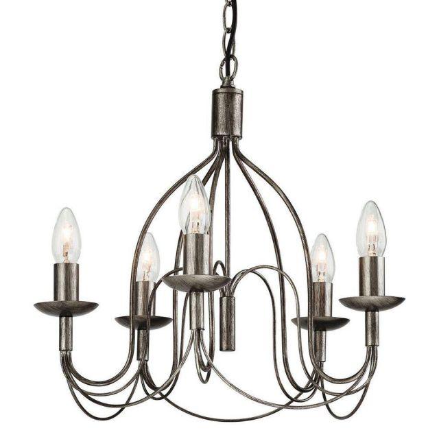 Firstlight 2317AS Regency 5 Light Ceiling Pendant in Antique Silver Finish
