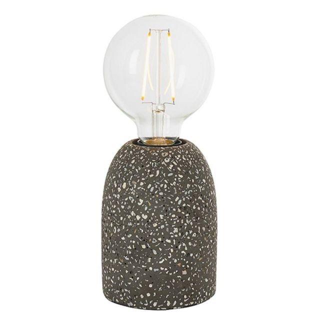 Endon 80633 Terrazzo 1 Light Table Lamp In Black Terrazzo