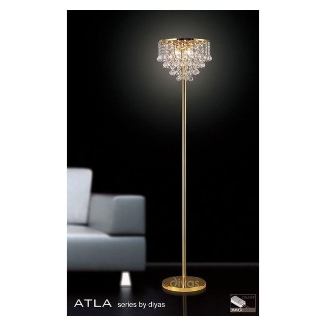 IL30032 Atla Gold And Crystal Floor Lamp