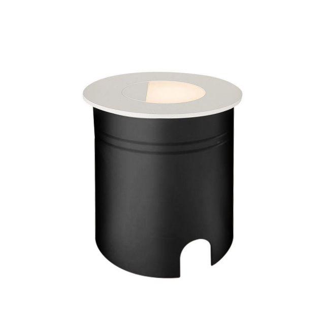 Mantra M7029 Aspen 1 Light Outdoor 3 Watt LED Round Eyelid Wall Lamp In Sand White
