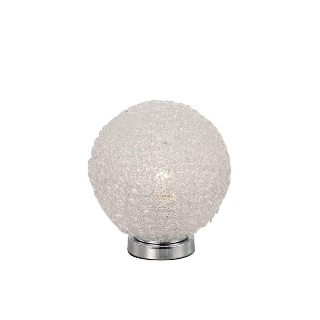 Mantra M5713 Bola 1 Light Table Lamp In Polished Chrome