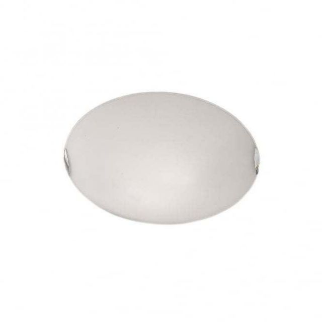 C5024 Small Flush Light With Opal Glass And Chrome Clips