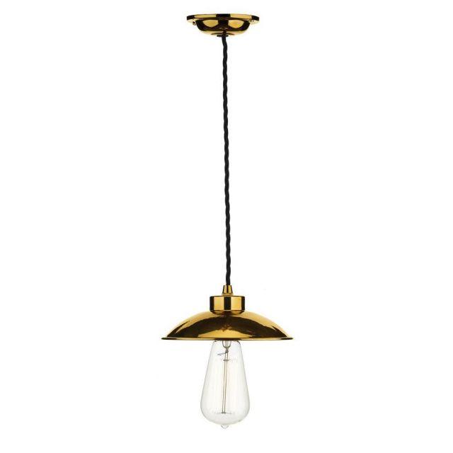 David Hunt Lighting DAL0164 Dallas 1 Light Vintage Pendant Ceiling Light - Copper