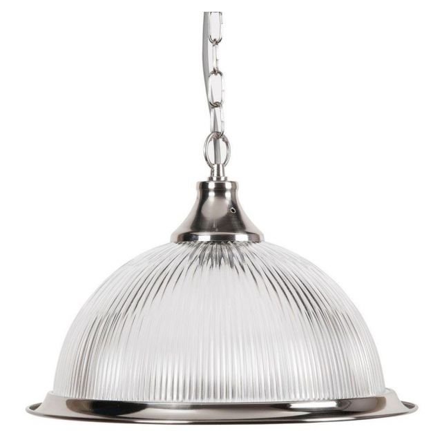 New Jersey American Diner Ceiling Pendant Light in Silver