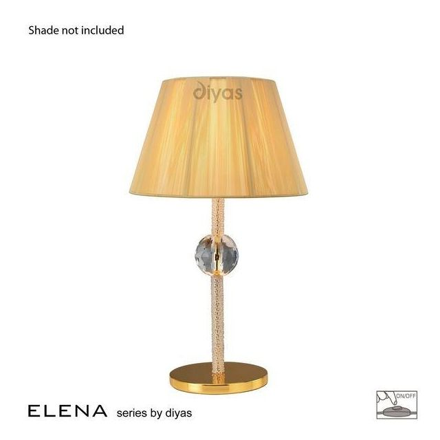 IL30520 Elena Gold And Crystal Cloth Table Lamp Base Only