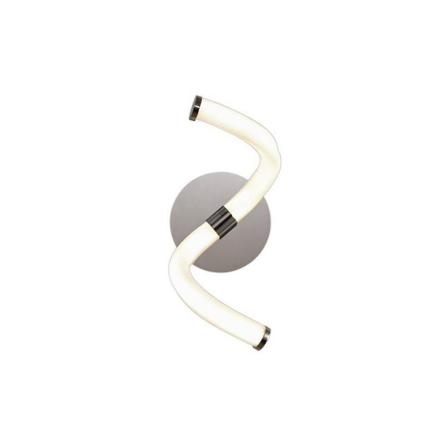 Mantra M6603 Nur II 12 Watt Wall Light In Polished Chrome And Opal White - Unswitched