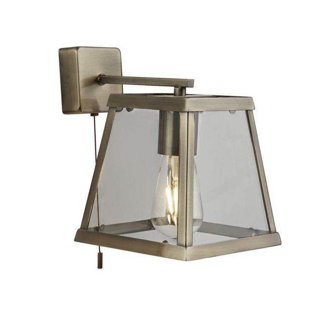 Searchlight 4611AB Voyager 1 Light Wall Light In Antique Brass