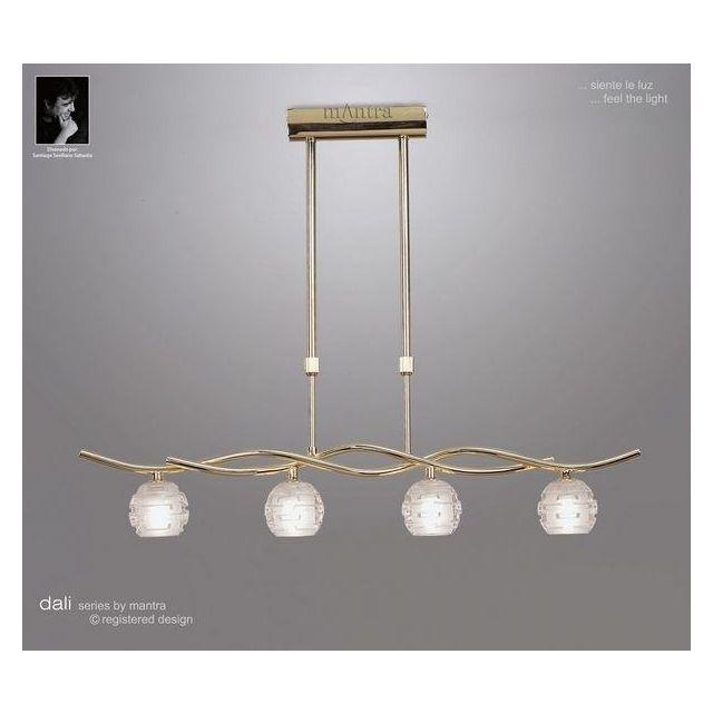 M0082PB Dali 4 Light Polished Brass Ceiling Pendant Light