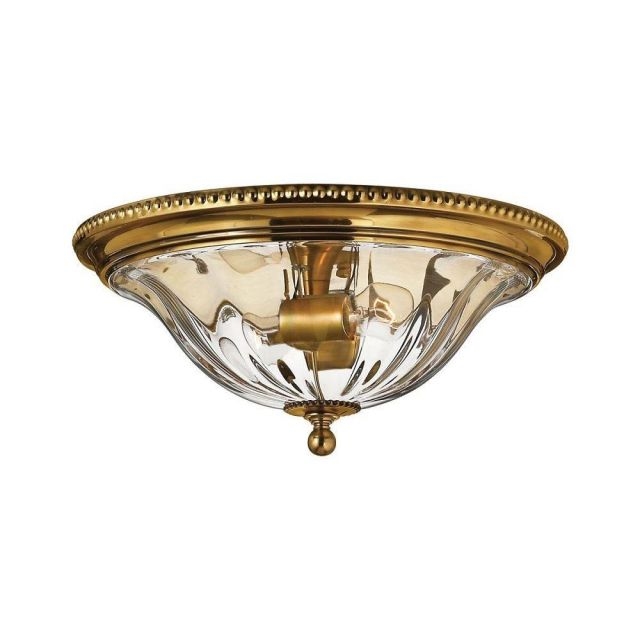 HK/CAMBRIDGE/F/A Cambridge Solid Brass and Glass Flush Ceiling Light