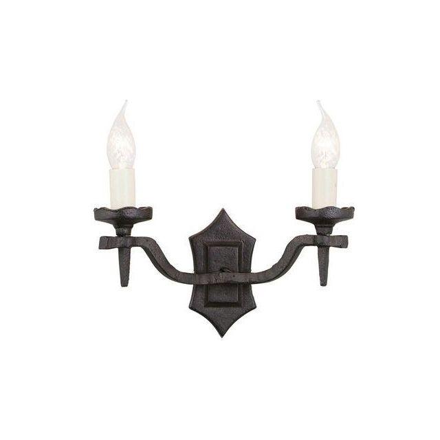 Elstead RY2B BLACK Rectory twin black, wrought iron wall light