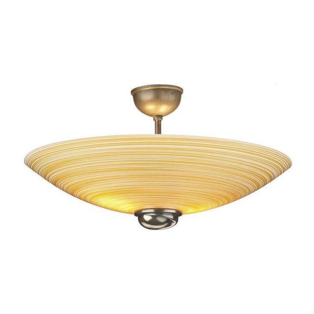David Hunt Lighting SWF5863 Swirl 2 Light Semi Flush Ceiling Light In Bronze