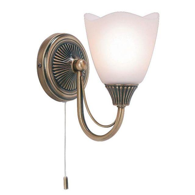 Endon 601-1AN 1 Light Wall Light Plated In Antique Brass