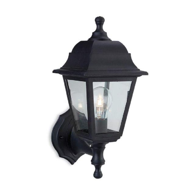 Firstlight 8346 Oslo Uplight Or DownLight  (2-in-1 fitting) Wall Lantern In Black Resin
