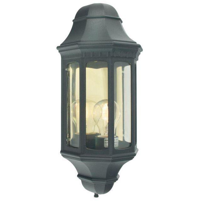 Norlys M8 Malaga flush half wall lantern