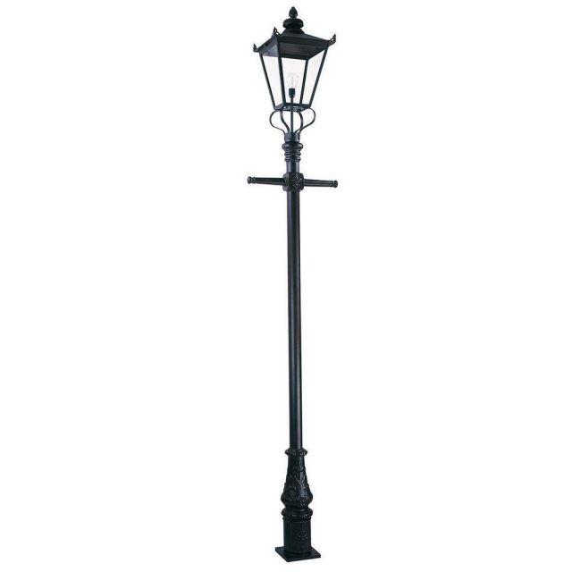 Elstead WSLP1/BLK Wilmslow exterior post lantern, IP23