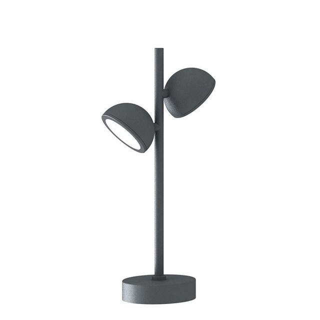 Mantra M6741 Everest 2 Light Outdoor Short Post Light In Anthracite - Height: 450mm