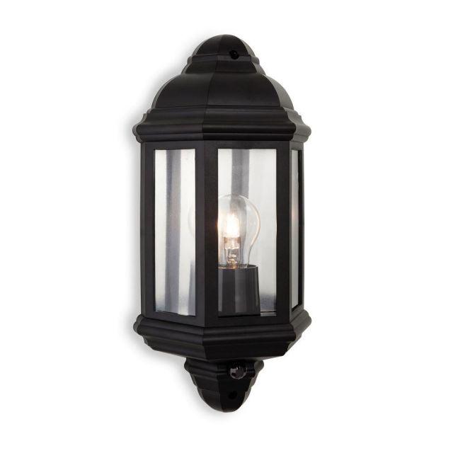 Firstlight 8656BK Park 1 Light Wall Light With PIR In Black