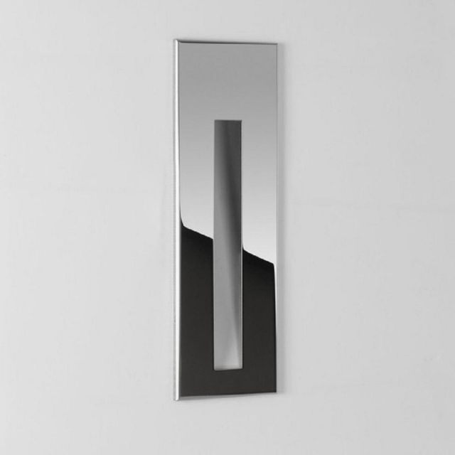 Astro 1212029 Borgo One Light LED Recessed Wall Light In Stainless Steel, 2700K - H: 133mm