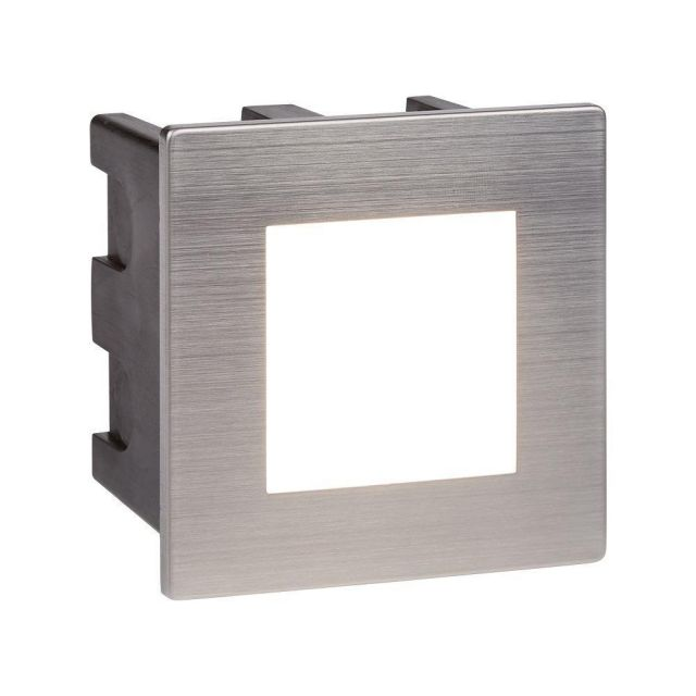 Searchlight 0761 Ankle Square Recessed Outdoor Wall Light In Stainless Steel - Length: 80mm