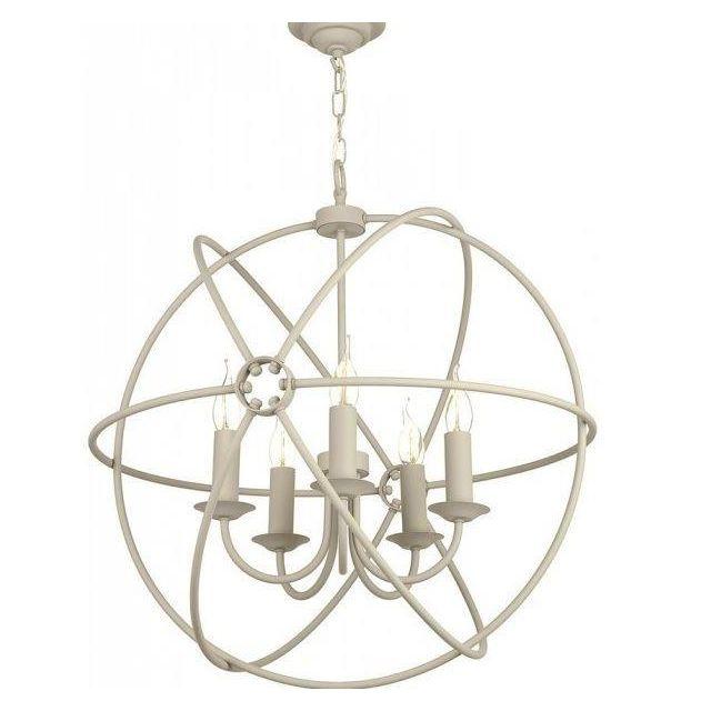 David Hunt Lighting ORB0533 Orb 5 Light Pendant Ceiling Light In Cream, Fitting Only