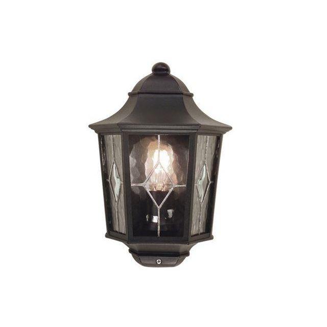Elstead NR7/2 Norfolk traditional, black exterior half lantern, IP43