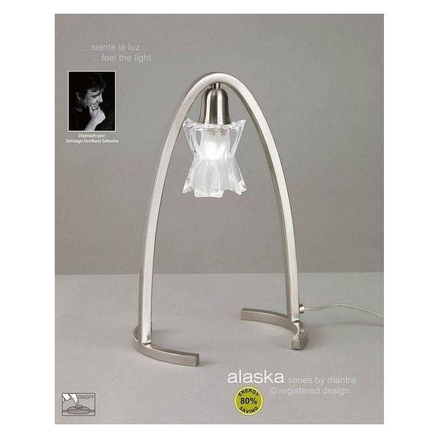M0615SN Alaska Halogen 1 Light Satin Nickel Table Lamp