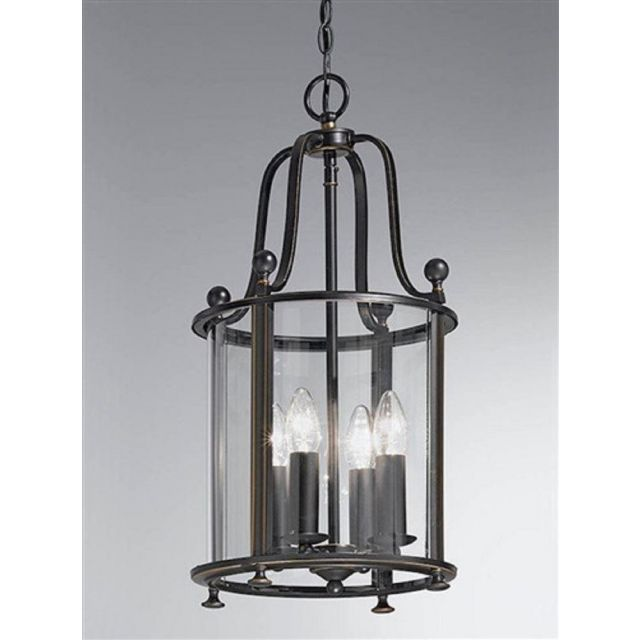 L7001/4 4 Light Antique Bronze Hanging Lantern