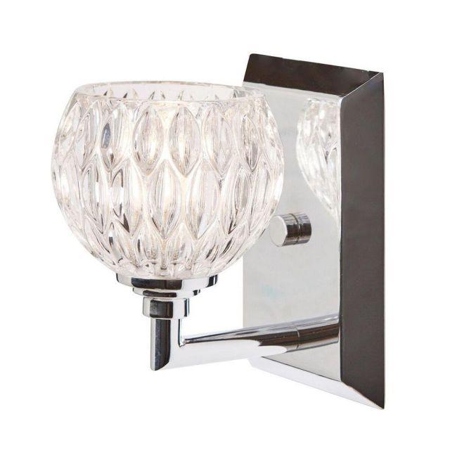 QZ/SERENA1 BATH Serena 1 Light Bathroom Wall Light In Polished Chrome