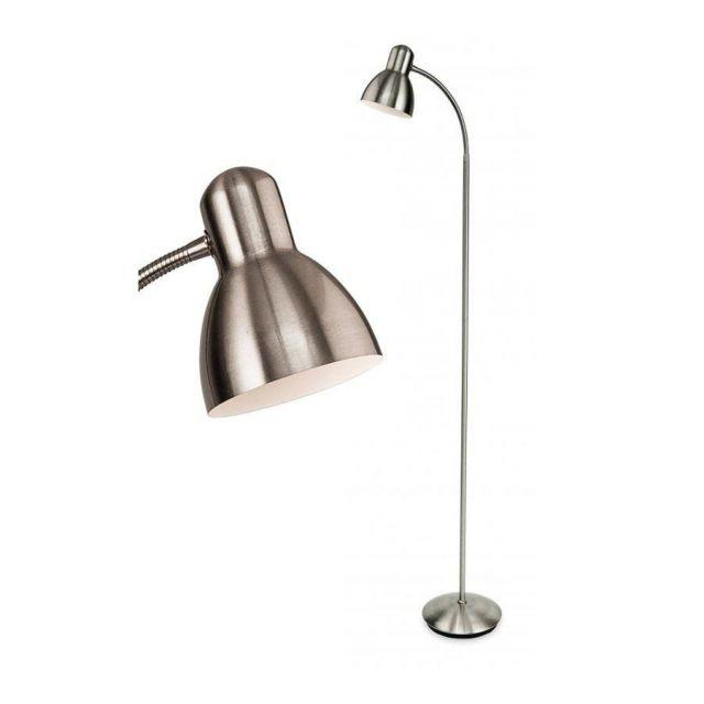 Firstlight 3745BS Morgan Adjustable Reading / Craft Floor Light In Brushed Steel