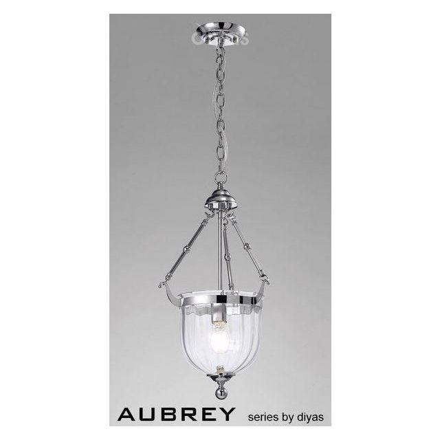IL31071 Aubrey 1 Light Polished Chrome Ceiling Pendant