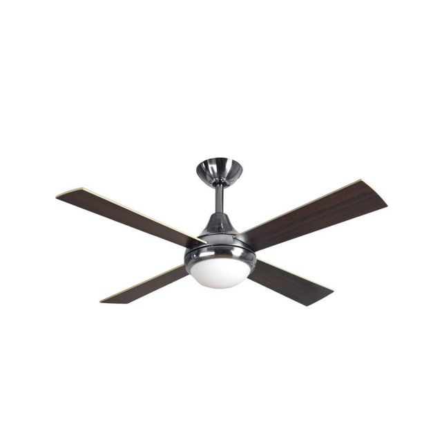 """Fantasia 114307 Sigma 42"""" Stainless Steel Ceiling Fan With Reversible Blades, Remote Controlled"""