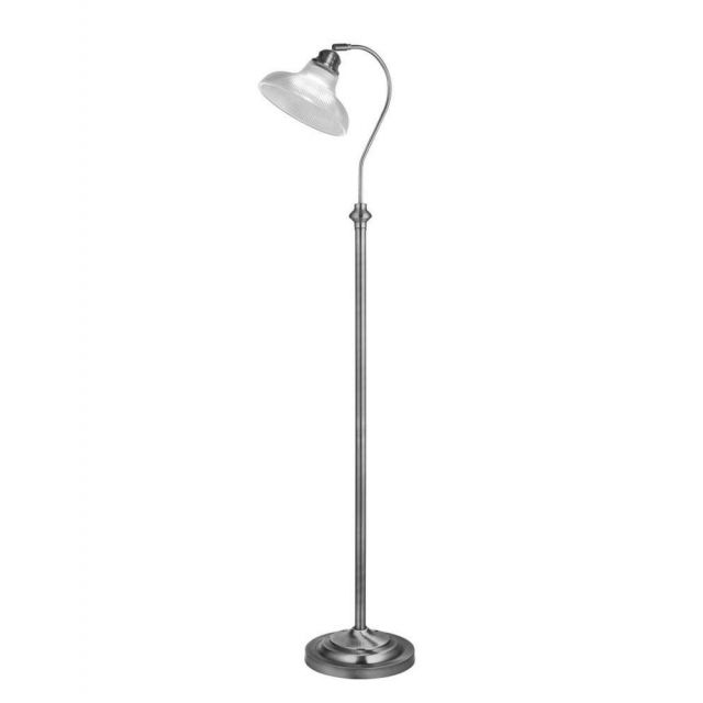 Searchlight 7184SS Bistro III 1 Light Floor Light In Satin Silver