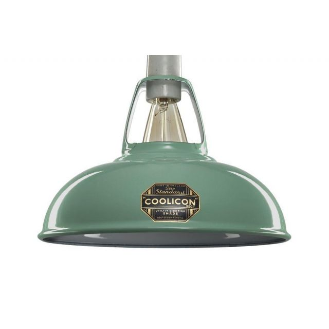 Coolicon 1 Light Small Classic Ceiling Pendant In Fresh Teal - Dia: 228mm