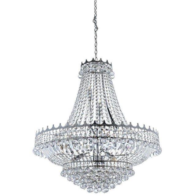 Searchlight 9112-82CC Versailles 13 Light Crystal Chandelier Chrome Finish