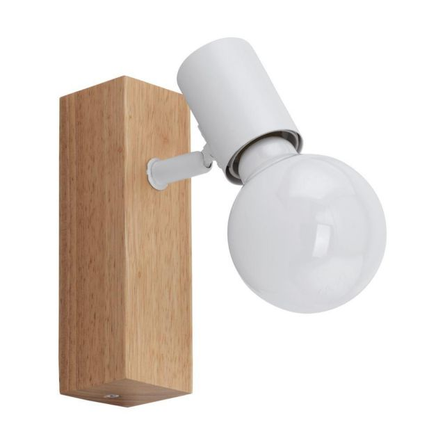Eglo 33168 Townshend 3 One Light Wall Spotlight In Brown And White
