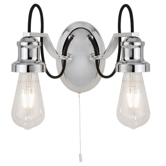 Searchlight 1062-2CC Olivia Two Light Wall Light In Chrome