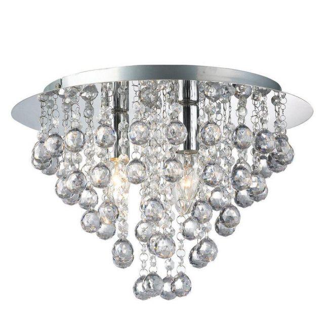 Palazzo 3  Light Round Acrylic Flush Chandelier