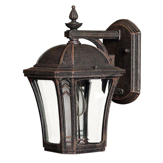 HK/WABASH2/S Wabash 1 Light Small Wall Lantern Light In Mocha
