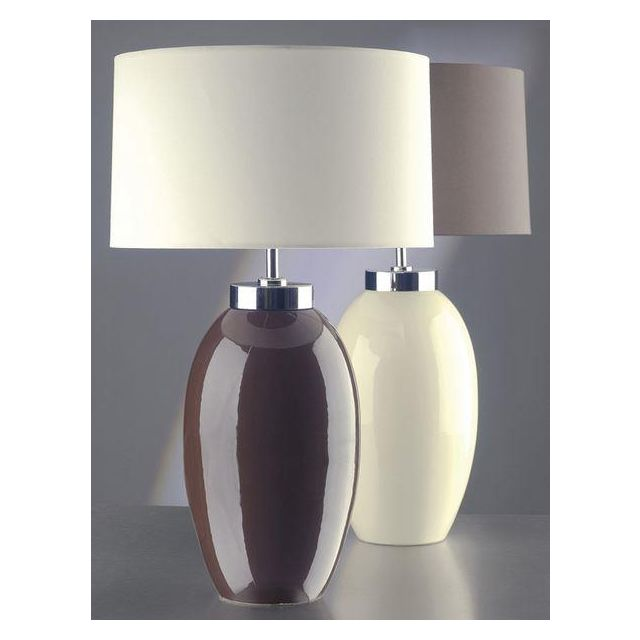 Elstead Victor (35VCS/LB37) Table Lamp in Cream Small