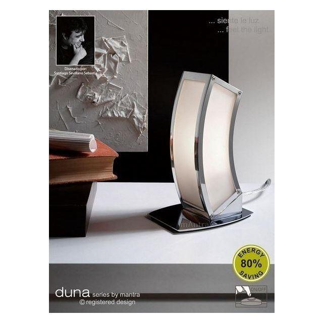 M8395 Duna Low Energy 1 Light Chrome Table Lamp