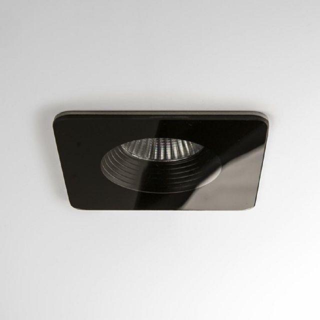 Astro 1254017 Vetro One Light Square Recessed Ceiling Downlight In Black - L: 90mm