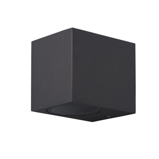 Mantra M6516 Kandanchu 1 Light Square Outdoor Wall Light In Anthracite - H: 80mm