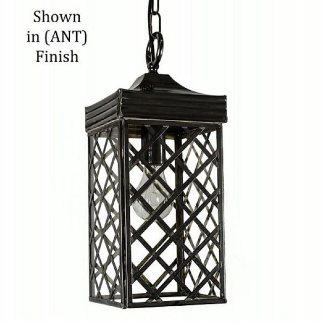 533ANT Ivy Small Hanging Lantern In Old Antique - H:460mm