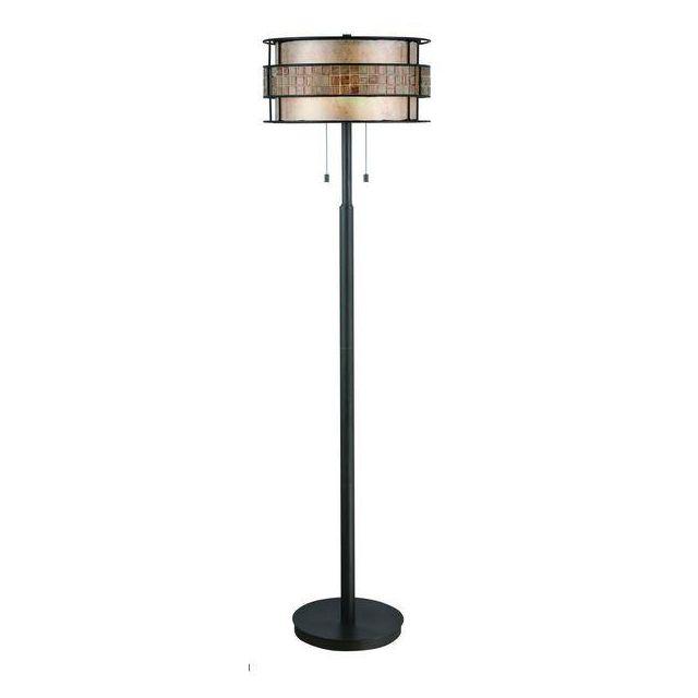 QZ/LAGUNA/FL/A 2 Light Renaissance Copper Floor Lamp