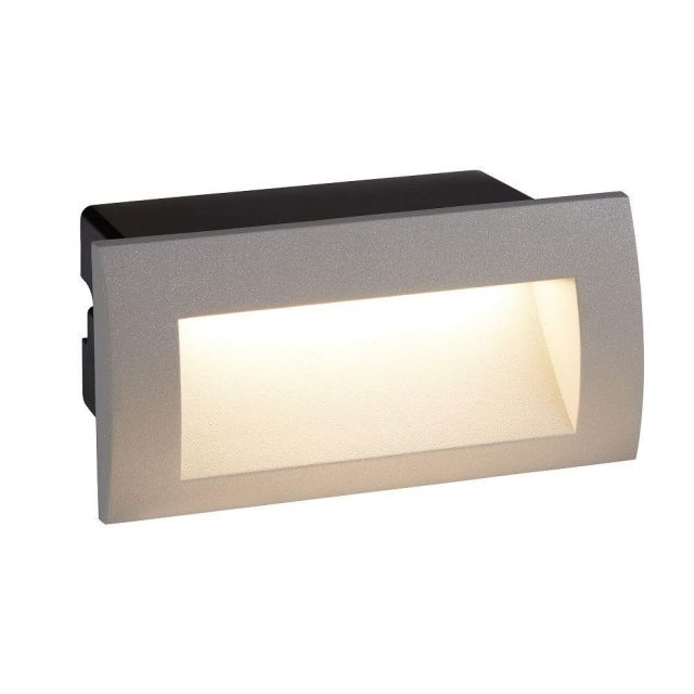 Searchlight 0662GY Ankle Rectanguar Recessed Outdoor Wall Light In Grey - Length: 140mm