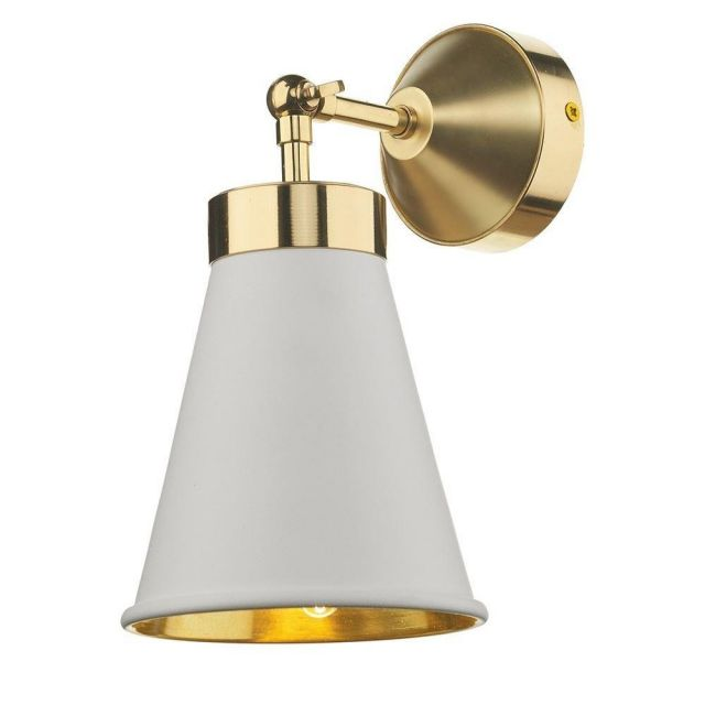 David Hunt Lighting HYD0702 Hyde One Light Wall Light In Brass With Arctic White Metal Shade