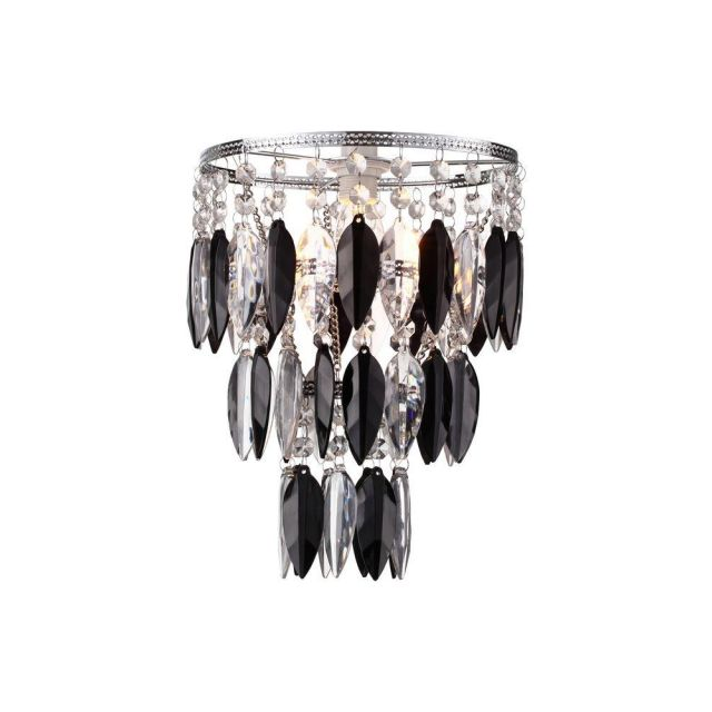 Nikki Easy Fit 1 Light Ceiling Pendant Lamp Shade In Black And Clear