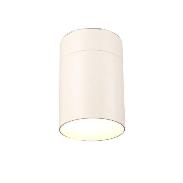 Mantra M5627 Aruba 1 Light Small Ceiling Light In White - Dia: 90mm