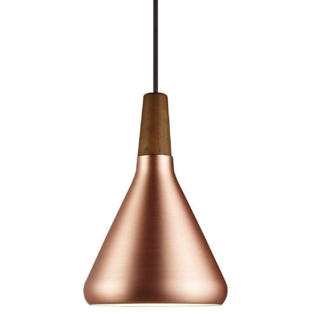 Nordlux 78203030 Float 18 1 Light Ceiling Pendant In Copper And Walnut Wood - Dia: 180mm